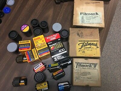 Old Film (expired) & three old movie film boxes