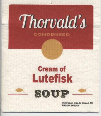 Dish Cloth Thorvald's Cream of Lutefisk Soup - Swedish Design