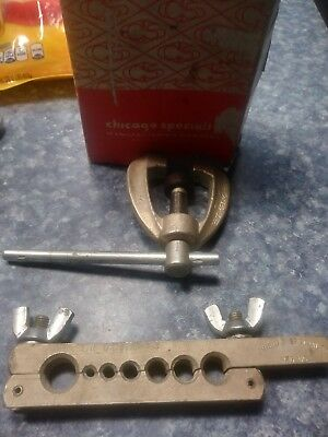 """Flaring Tool No. 3702 Chicago Specialty Mfg.  3/16 TO 5/8"""""""