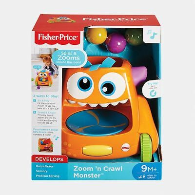 NEW Fisher-Price Zoom 'N Crawl Monster™ Helps develop: