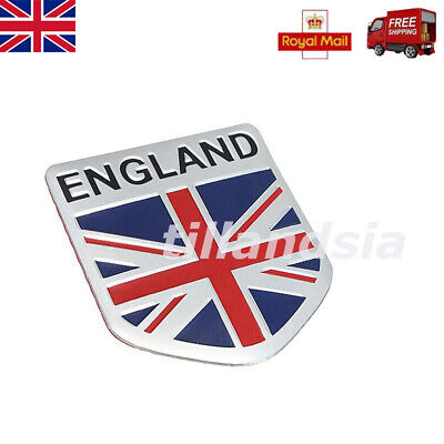 3D Car GB England UK Flag Union Jack Shield Emblem Badge Decals Decor Sticker