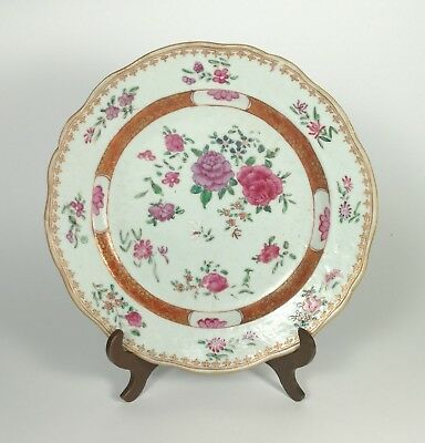 18th-19th Century Antique Chinese Famille Rose Export Floral Dish - Qianlong