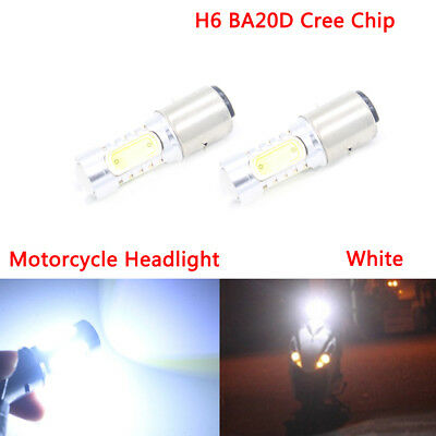 H6 BA20D Cree Chip Driving Light Head Light Motorcycle Light Lamp Bulb 6000K 12V