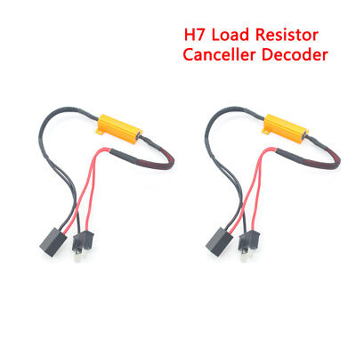 H7 50W Car LED DRL Load Resistor Canbus Error Free Wiring Canceller Decoder