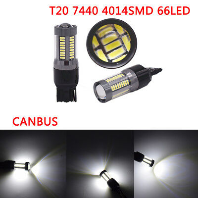 T20 7440 4014 66SMD CANBUS Car Brake turn signal Light Tail reversing Light Lamp
