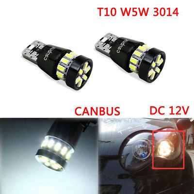 T10 w5w 3014 CANBUS ERROR FREE 18 SMD LED SIDELIGHT BULBS LAMP SUPER BRIGHT 12V
