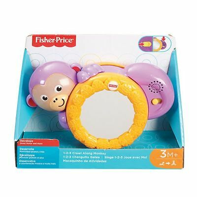 NEW Fisher-Price 1-2-3 Crawl Along Monkey Helps develop:
