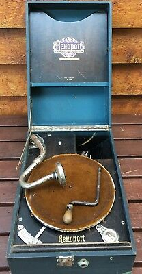 Vintage Rexoport Prismaphonic Gramaphone 1929 Collectable Rare Record Player
