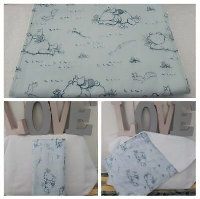 Winnie The Pooh Burp Cloth * Towel  Back *Blue. Great Baby Shower or Gift.