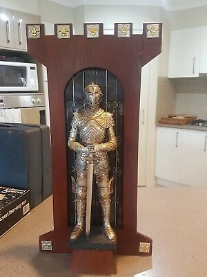 Mediaeval Statue Knight In Armour Wall Plaque