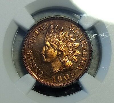 PR-64 RD 1905 Indian Head Cent! Richly colored, full red proof! Very Scarce!