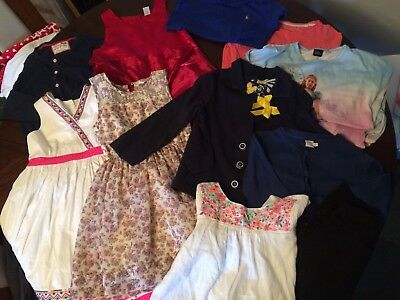 Large Bundle Of Girls Clothes Next, Gap, Ralph Lauren Etc Age 6-7 Years