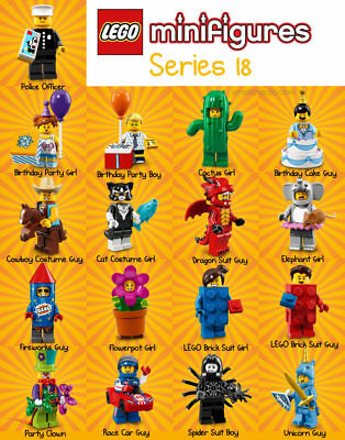 Series 18 (40 Years) - Lego Minifigures (minifigs) - all brand new