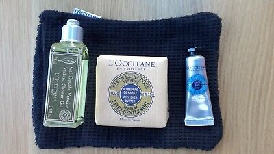 L'Occitane Extra Gentle Soap Verbena Shower Gel Hand Cream & Mitt Gift Set NEW
