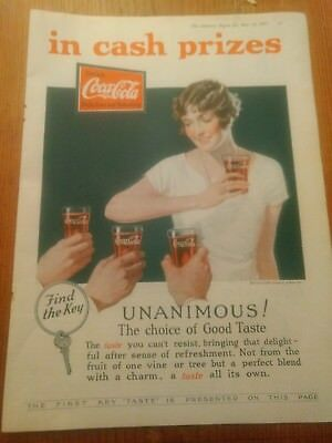 1927 - MAY 14 - The Literary Digest - Coca-Cola COKE Ad