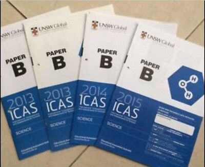 ICAS past papers year 4 (B) Maths, English, Science, Digital 2010 to 2017