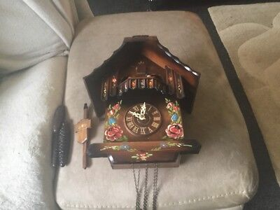 Black Forest Musical Cuckoo Clock ,3 Weights,Moving Dancers And Chimney Sweep