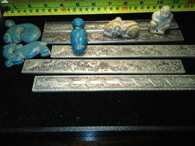 Tibet silver dragon bullion, China hand carved jade and tuquoise totem job lot