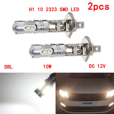 2x H1 10LED 2323SMD White light bulbs High Main Beam Fog Daytime Head Light 12V