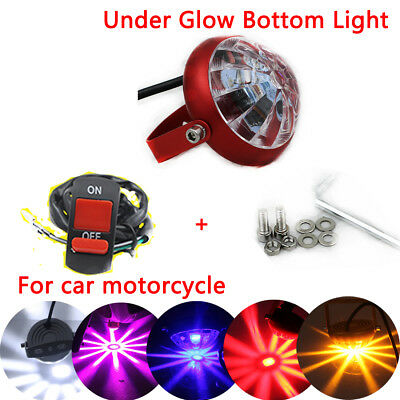 1x Universal Car Motorcycle Under Glow Bottom  LED Strobe Spot Light 10W 1500LM