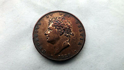 George IV 1826 Half Penny - ex condition with lustre