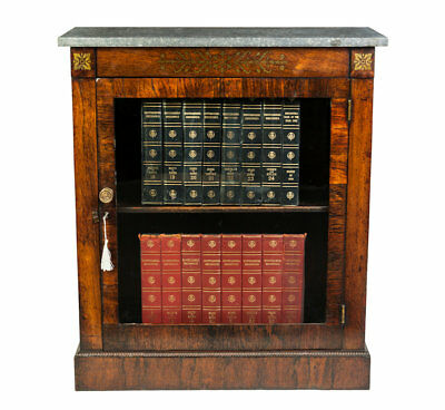Antique / Rare Regency Rosewood Dwarf Bookcase Circa 1810 / Country House