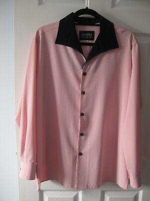 "1950s Vintage Style Pink Shirt made by ""Lansky Bros"""
