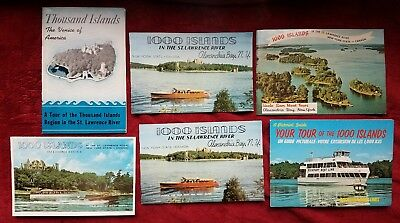 Vintage 1970s 1000 Islands St. Lawrence River New York Guide Booklet Lot of 6