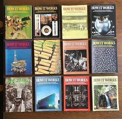 RARE & COMPLETE FIRST ISSUE SET of HOW IT WORKS magazine - 98 issues in total