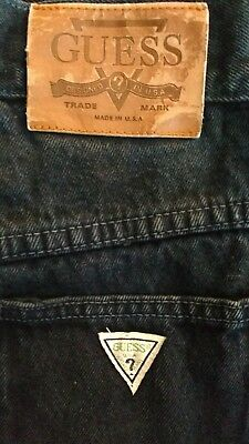 Vintage Womens GUESS USA Jeans Dark Blue High Waisted Mom 29 x 31
