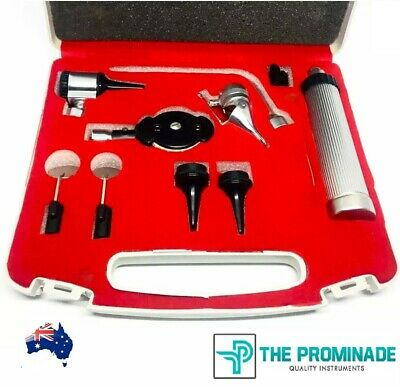 ENT Diagnostic OTOSCOPE KIT SET Ophthalmoscope for Professionals