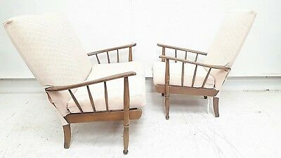 Vintage Retro Mid Century Sofa & Easy Chair Danish Era Lounge Cottage Armchair