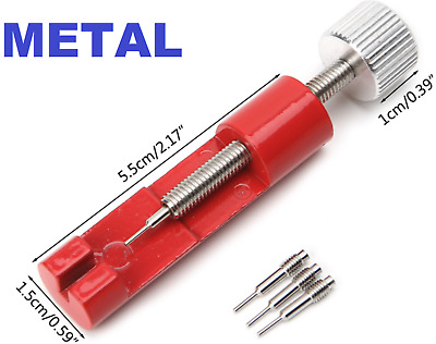 Metal Adjuster Watch Band Strap Bracelet Link Pins Remover Repair Tools Kit