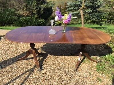 Antique Large Victorian Extending Dining Table Solid Wood Mahogany