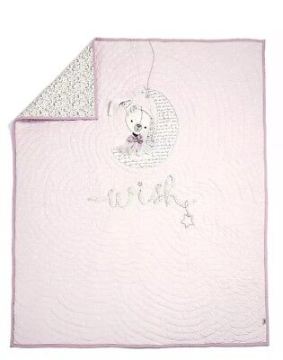 Mamas & Papas Millie and Boris Girls Cotbed Coverlet, Pink