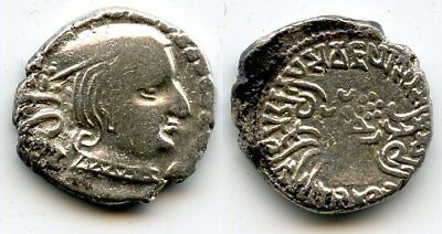 Silver drachm of Vijayasena (238-250 AD) as MK, dated 162 SE/240 AD, Indo-Sakas