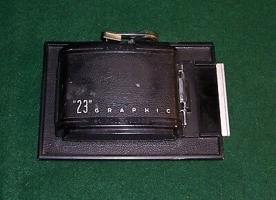 23 Graphic Graflex 120 roll holder with lever Very Nice