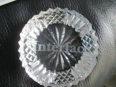 """Rare Tyrone Crystal """"Interface"""" signed Paperweight"""