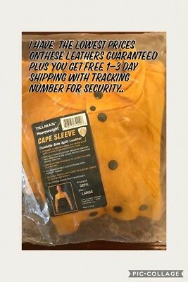 Welding Jacket Heavyweight Cape Sleeve Cowhide Leather Large