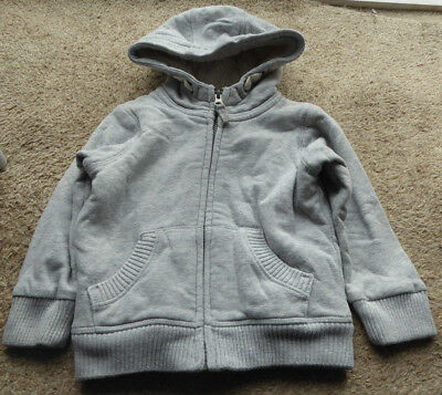 Marks and Spencer M&S Boys Grey Borg-Lined Zipped Hooded Age 18-24 Months