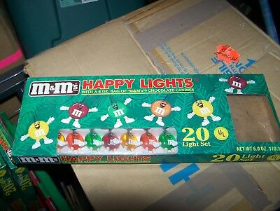 M&M Happy Lights 20 Light Set New In Box Candy Not In Box