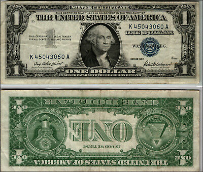 OLD PAPER Currency Money $1.00 Silver Certificates 1957 Lot of 5 ...