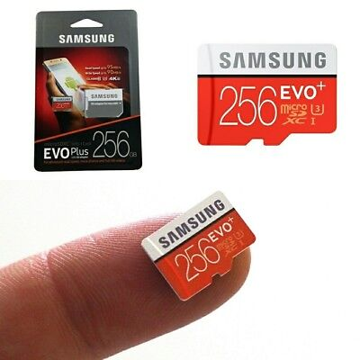 Samsung Evo 256 GB Micro SD Speicherkarte NEW Class 10 Memory Card + SD Adapter