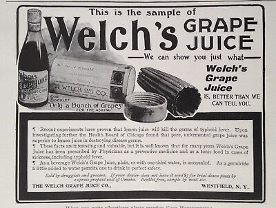 1903 Ad(G16)~Welch's Grape Juice, Westfield, Ny.