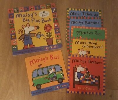 Bundle of 7 Maisy Books by Lucy Cousins including Big Flap Book