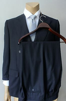 Ermenegildo Zegna Pinstriped Wool Gray Double Breasted Men's Two Piece Suit 42R