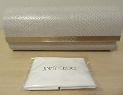 Jimmy Choo Glasses Case / Clutch Bag / Purse & Cleaning Cloth - New