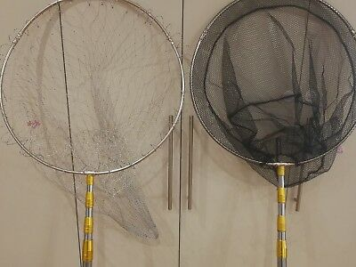 4.5mx50cmfishing landing net s/steel handle/frame big or small mesh free ship$36
