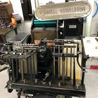 Heidelberg Windmill letterpress 2 chases Runs Excellent