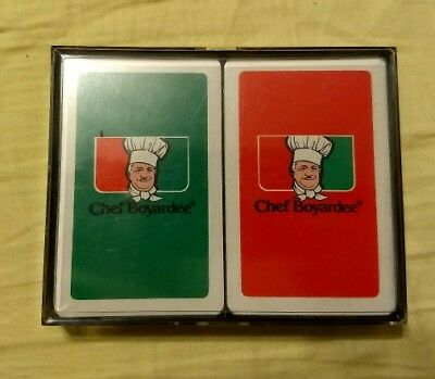 2 Pack Chef Boyardee Playing Cards SEALED! FREE SHIPPING!